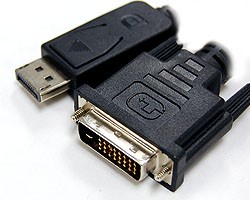 """DP-DVI005MM  DisplayPort to DVI Male Cable Adapter 0.5ft (6"""") w/IC"""
