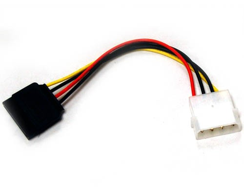 SATA-POWER   4 Pins Molex Connector to Serial ATA Power Cable, 6 Inches