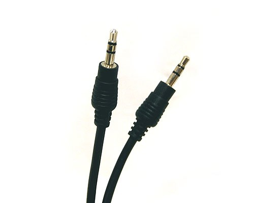 SPC-MM  3.5mm Stereo Speaker Cable - Male to Male, Black Jacket