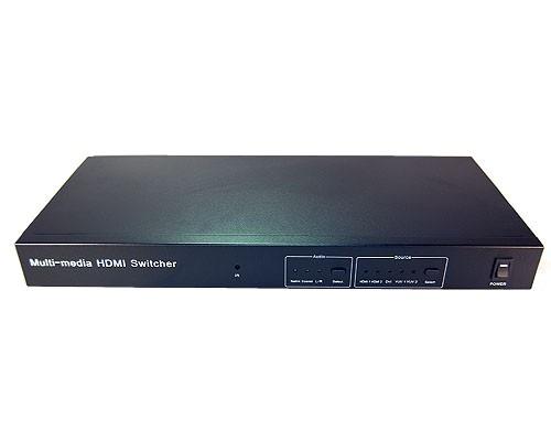 HMSW501C  5 x 1 HDMI® to YPbPr + R/L Audio Converter/Switcher
