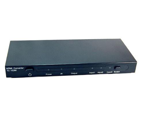 HMSW301C   3 x HDMI®+DVI+SPDIF+YPbPr+L/R Audio to HDMI® Multifunctional Home Theatre Switcher