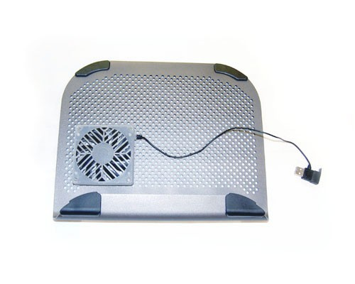 NC-600  Bytecc Dark Silver Aluminum 2-Sided Notebook Cooler with Anywhere Installation Fan