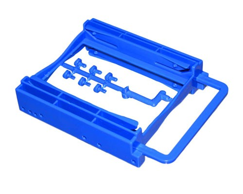 "Bracket-252B   2.5"" Dual HDD/SSD Screwless Bracket For 3.5"" Drive Bay (Blue)"