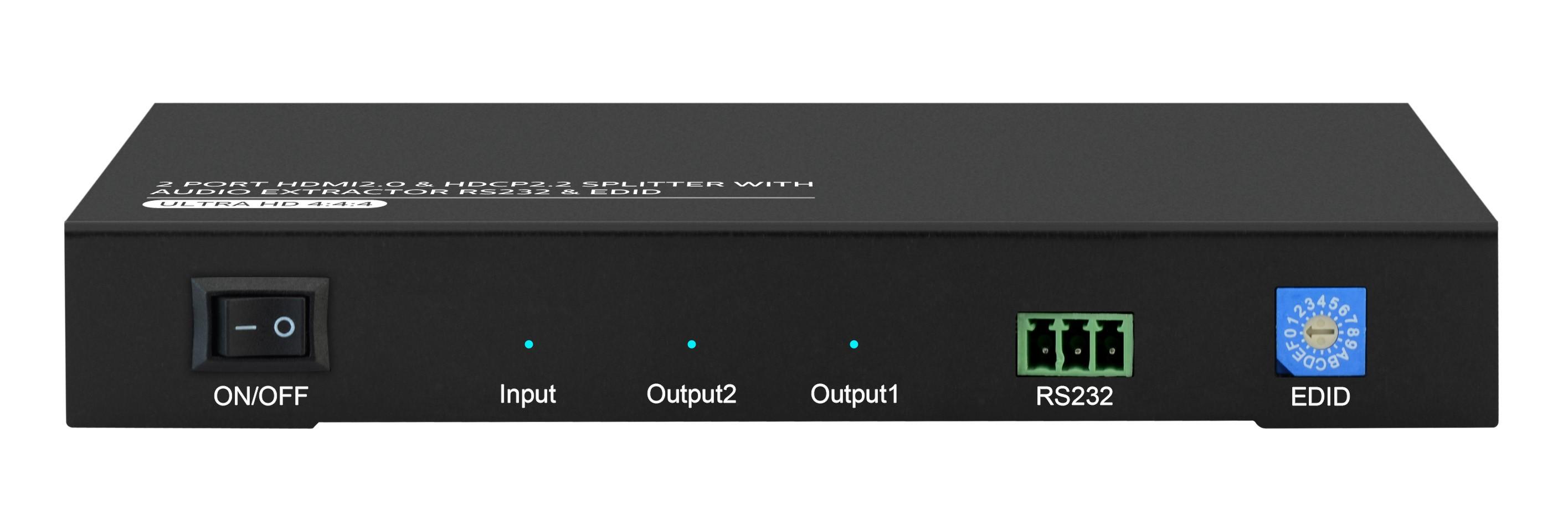 1X2 HDMI2.0 & HDCP2.2 SPLITTER