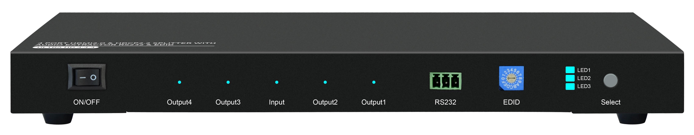 1X4 HDMI2.0 & HDCP2.2 SPLITTER WITH AUDIO EXTRACTOR