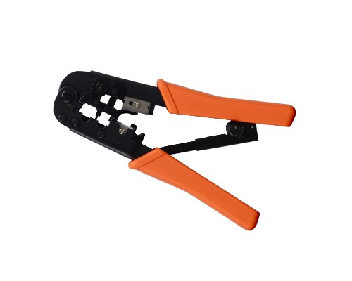 RJ-11/RJ-12/RJ-45 Modular Plug Crimping Tool, Ratchet Type