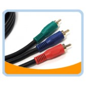 P3V  PREMIUM COMPONENT R.G.B. Video CABLE - GOLD Plated,Black Jacket