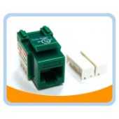 RJ45PD-G  Cat6 Punch Down Keystone Jack - Green