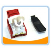 RJ45TL-R  Cat. 6 Tool Less Keystone Jack - RED