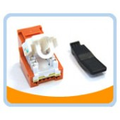 RJ45TL-O  Cat. 6 Tool Less Keystone Jack - Orange
