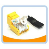 RJ45TL-Y  Cat. 6 Tool Less Keystone Jack - Yellow