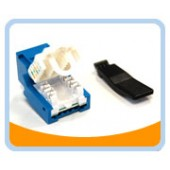 RJ45TL-B  Cat. 6 Tool Less Keystone Jack - Blue