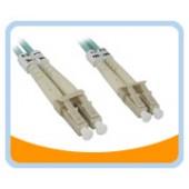 AQ-LL  10Gb Aqua Fiber LC to LC Cable, Multi mode Duplex 50/125