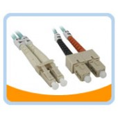 AQ-LS  10Gb Aqua Fiber LC to SC Cable, Multi mode Duplex 50/125