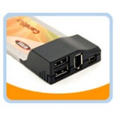 U2FW-CB-4  USB 2.0/Firewire Combo Card Bus 4 ports, with 6-4pin firewire cable