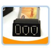 BT-ECU2FW  2 Ports Firewire 400/1394A and 1 Port USB 2.0 ExpressCard