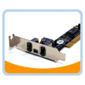 BT-FW310LV  Firewire 1394A 3+1 Ports Low Profile PCI Card