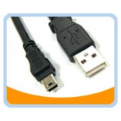 USB2-MIN  USB 2.0 Type A Male to Mini B 5pin Male Cable