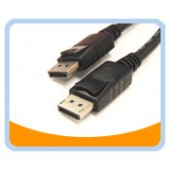 DP  DisplayPort Male to Male Audio / Video  (Black)