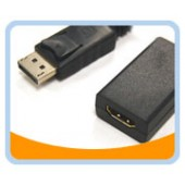 "DP-HM005MF  DisplayPort to HDMI*  Female Cable Adapter 0.5ft (6"") w/IC"