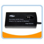 SLIM90-LCD  Auto Voltage Detection 90W Universal Laptop AC Power Adaptor w/ USB 5V Charge port