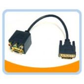 BTA-032  VGA(HD15) Female with Nuts and 3 RCA Female to DVI-I(Dual link) Male Adaptor