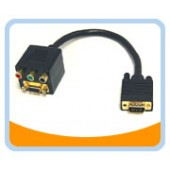 BTA-033  VGA(HD15) Female with Nuts and 3 RCA Female to VGA(HD15) Male Adaptor