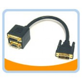 BTA-035  DVI-I(Dual link) Female and VGA(HD15) Female to DVI-I(Dual link) Male Adaptor