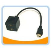 BTA-036  HDMI* Female x 2 to HDMI* Male Adaptor