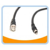 BNC/RCA Male to Male 75 ohm Cable, Black