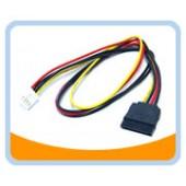 SATA-FDD-20  SATA Power 15pin To FDD Power 4pin Cable