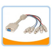 HD15F/5BNCF-1  1' HD15 to BNCx5 Female to Female Cable