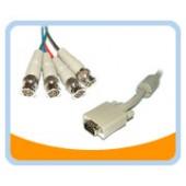 HD15M/4BNCM-6   6' HD15 to BNCx4 Monotor Cable w/ Ferrite
