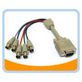 HD15M/5BNCF-1  1' HD15 to BNCx5 Male to Female Cable