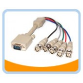 HD15M/5BNCM-1  1' HD15 to BNCx5 Male to Male Cable