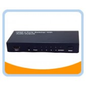 HMSW401C  HDMI® 4 Ports Switcher w/ Toslink Audio + Coaxial Audio & 3.5mm Stereo