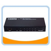 HMSW501SM  Ultra High Performance 5 Ports HDMI® Amplifier Switcher w/ Remote Control & Intelligent Switch