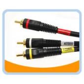 PV2A  PREMIUM YRW Video/Audio/AV Cable - Gold Plated, Black Jacket