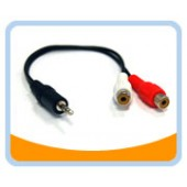 """S352A   3.5mm STEREO Male to 2RCA Female, 6"""""""