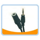 SPC-MF  3.5mm Stereo Speaker Extension Cable - Male to Female, Black Jacket