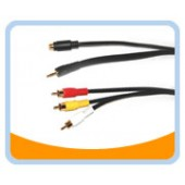SV3R  S-Video/3.5mm Stereo Male to YRW video/audio Male Cable