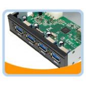 """UH-430  Super-Speed USB 3.0 4-ports Internal 3.5"""" Bay HUB"""
