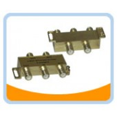 F4SP   F-Type 4-way Splitter, Gold