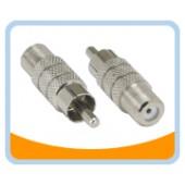 FJ-RP   F Connector Jack to RCA Plug Adaptor