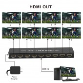 1×8 HDMI 2.0 4K@60HZ/HDCP 2.2 Splitter