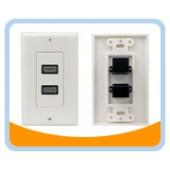 HMWP2  HDMI® Wallplate, 2 Ports