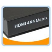 HDMI® Switch Splitter 4x4 Matrix, with IR Remote Control