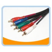 P3V2A  PREMIUM COMPONENT R.G.B. Video/Audio Cable - Gold Plated, Black Jacket