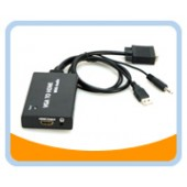 VGA to HDMI® converter with audio and USB for power