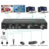 BYTECC KVM-DP201K  2X1 DP1.2 & USB2.0 KVM SWITCH 4K2K SUPPORT DP++